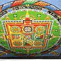 Mandala réaliser au centre de sonada