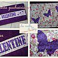 Serviette pochoirisée pour Valentine