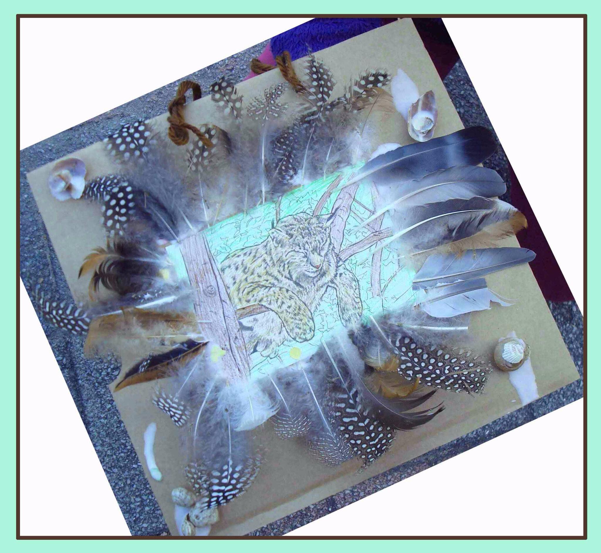 Tableau enfant lynx - Festival des prédateurs Jura 2015