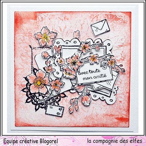 blogorel avec des fleurs lcde loreeduscrap