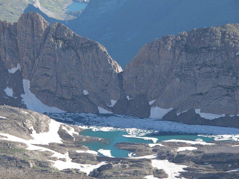 zoom sur la Brèche de Tuquerouye et Lac Glacé