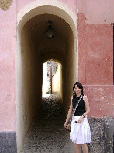 Roumanie, tour de Brasov avec Gaby