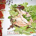 Salade de truite saumonée.