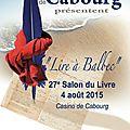 Salon du livre de cabourg lire à balbec 2015