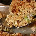 ✩ crumble de noix de saint-jacques aux poireaux