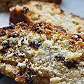 Cake aux raisins secs et bananes séchées