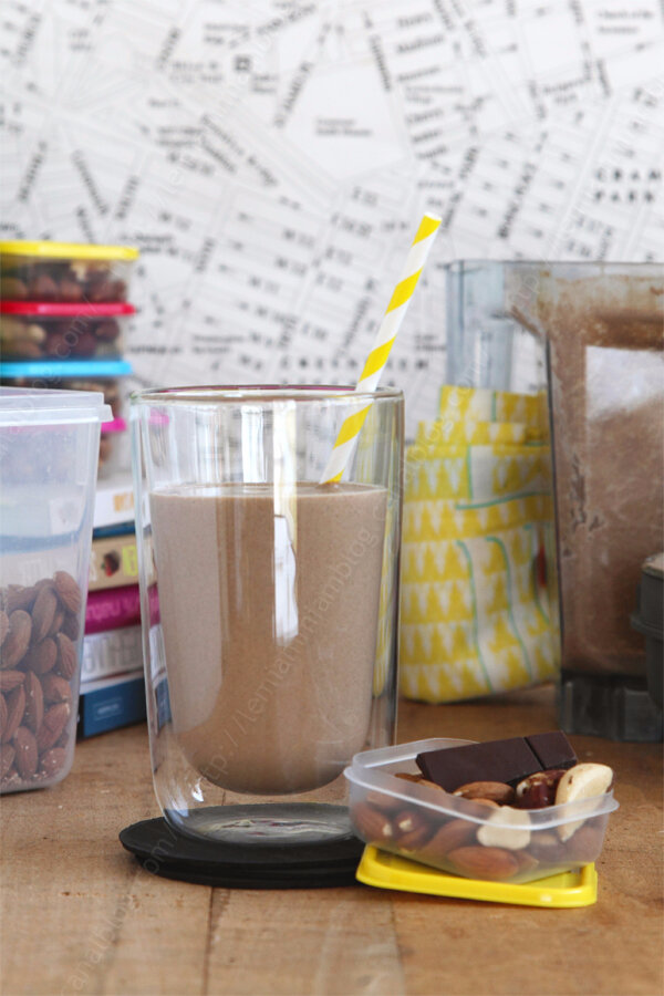 Smoothie cacao post work out (qui se transforme comme par magie en crème dessert chocolat)