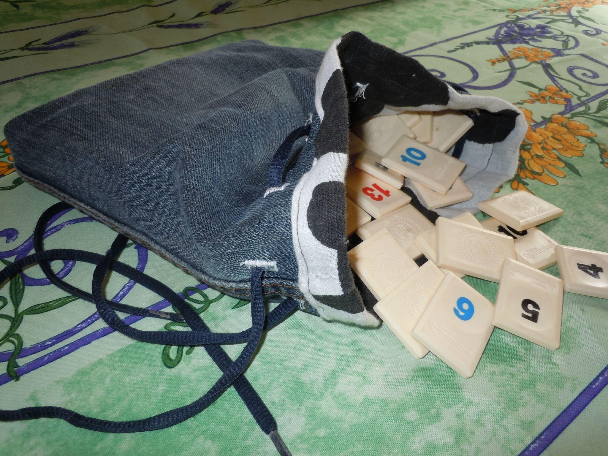 Petit sac en free, tuto inside! Recyclez vos vieux linges usés...
