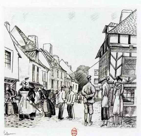 Laboureur touristes en Bretagne