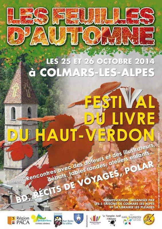 Festival du livre Feuilles d'automne Haut Verdon