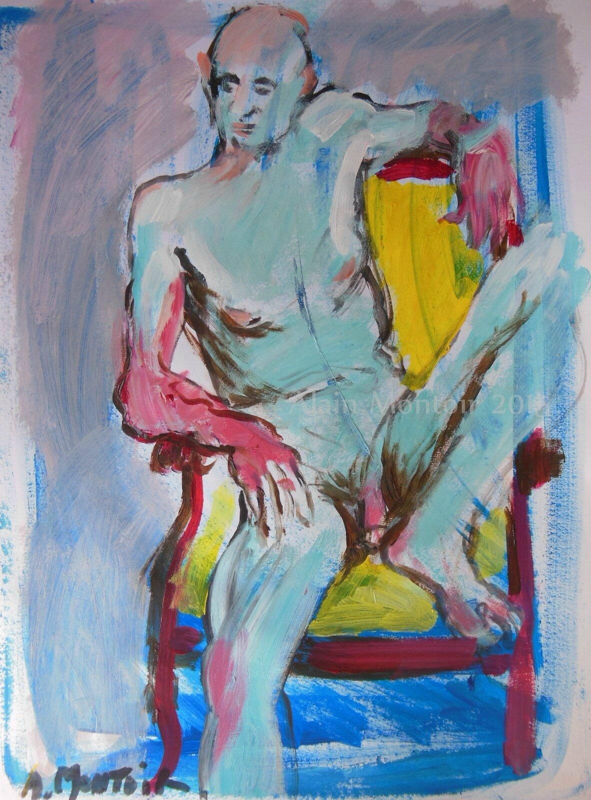 Alain Montoir Avignon galerie tableau dessin peinture de nu (12)