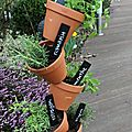 Diy jardin facile - jardinière aromatique verticale.