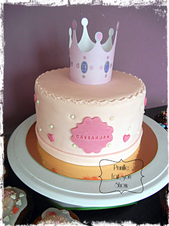 gateau princesse couronne prunillefee