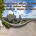 Jean belles-mains, évêque de poitiers reçoit au château baronnial, isaac de stella et hugues de chauvigny
