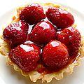 Tartelettes fraise noisette