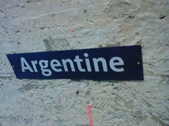 Argentine : cartouche actuel après dépose du carrelage