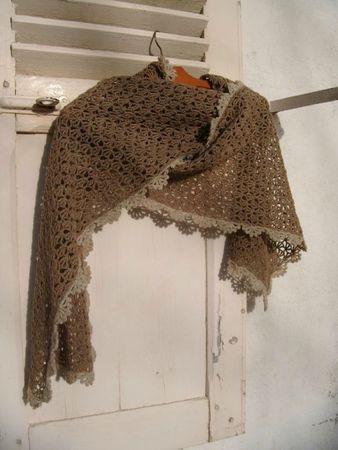 écharpe crochet dentelle 013