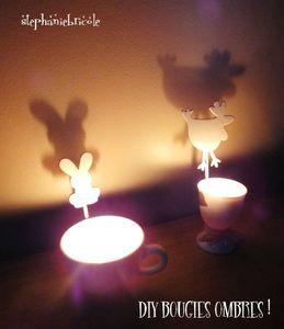comment faire des bougies ombres, tuto paques, diy paques, idée bougie créative