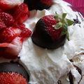 Pavlova fraises/chocoalt