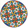 Mandala de septembre : azulejos - version colorée
