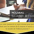 Organisation d'ateliers par l'ecole des loisirs pour des auteurs jeunesse