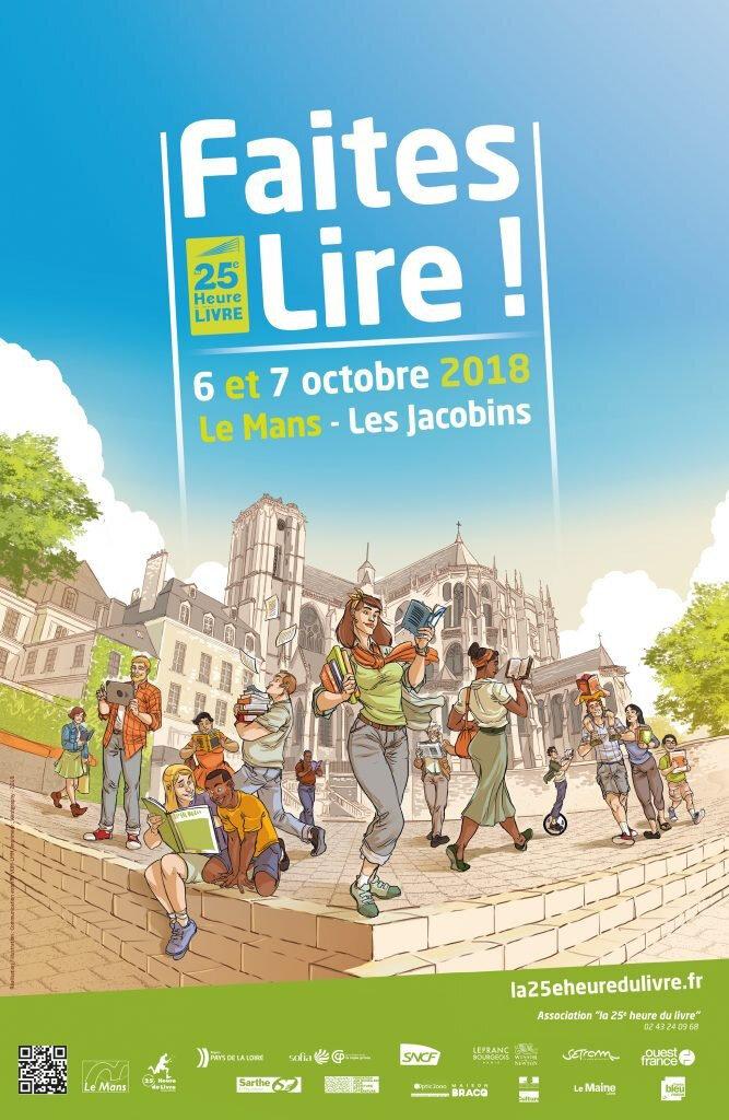 6 et 7 octobre 2018 : 25° heure du livre au Mans.