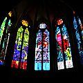 Nevers, cathédrale, choeur gothique, vitraux, détails 3(58)