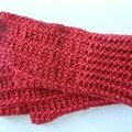 Gants maille relief crochet 2