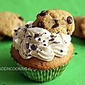 Chocolat chip cookie dough cupcakes
