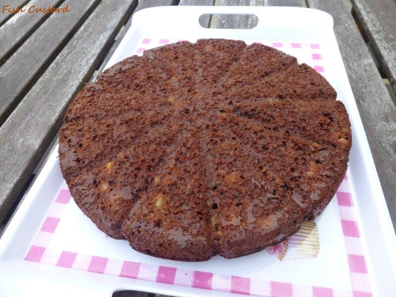 Gâteau cacao banane crème fraîche (46)