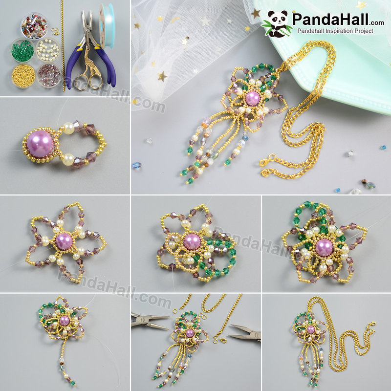 1080-PandaHall-Idea-on-Golden-Seed-Beads-Charming-Necklace
