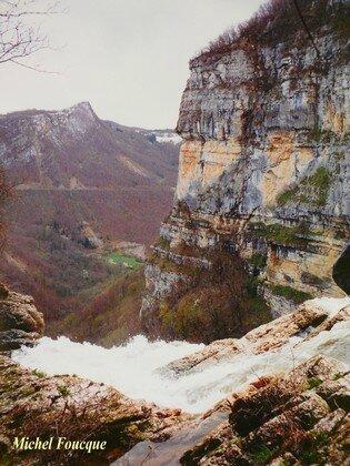1877) cascade du Bugey (Ain)