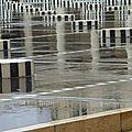 Les colonnes de buren sous la pluie !