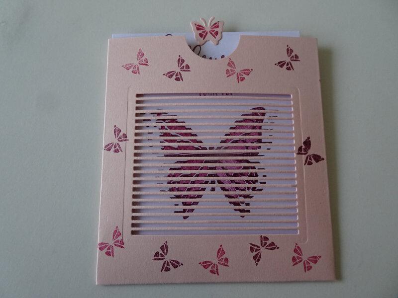 23c Carte Pochette Envol Papillon