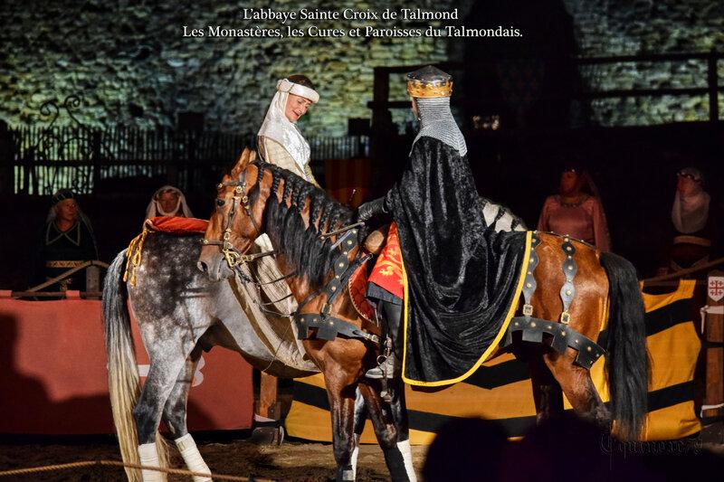 Aliénor d'Aquitaine et Richard Coeur de Lion abbaye Sainte Croix de Talmond - Les Monastères, les Cures et Paroisses du Talmondais