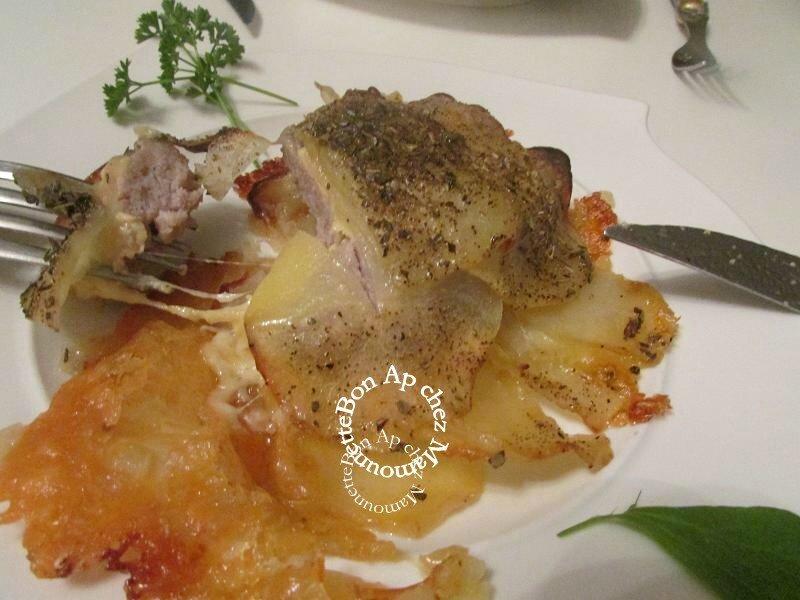 Fleurs de pommes de terre à la chair et au reblochon 012