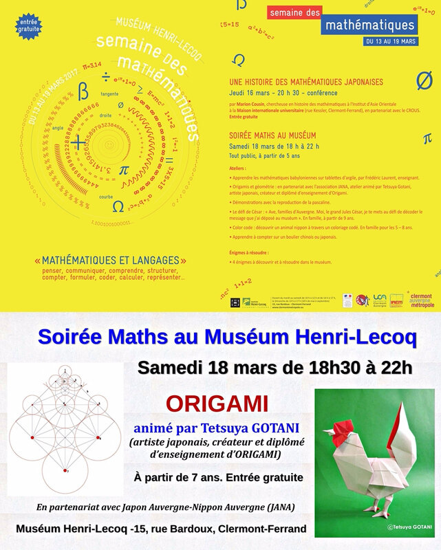 S-Semaine maths- affiche avec origami