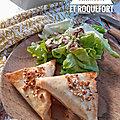 Samoussas au saumon et roquefort