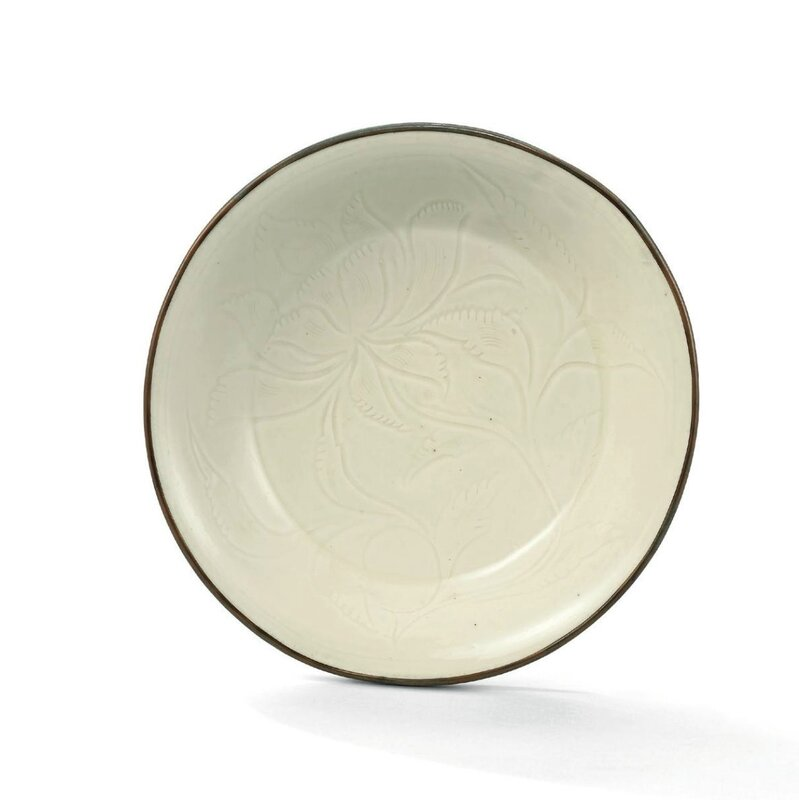 A Ding carved 'lotus' dish, Northern Song dynasty (960-1127)