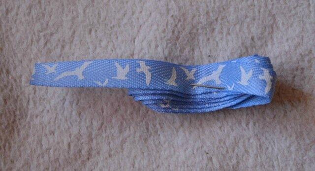 Ruban bleu oiseaux - 0,10€