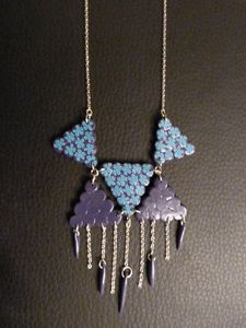 collier mi-long folk bleu et violet 8
