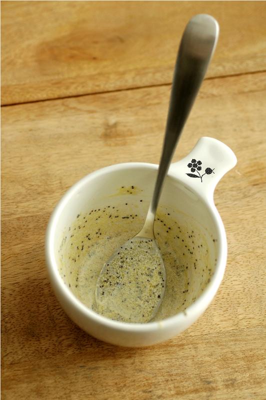 Sauce soja-citron-graines de pavot