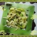 Chou shangaï sauté aux oignons et poivre vert frais