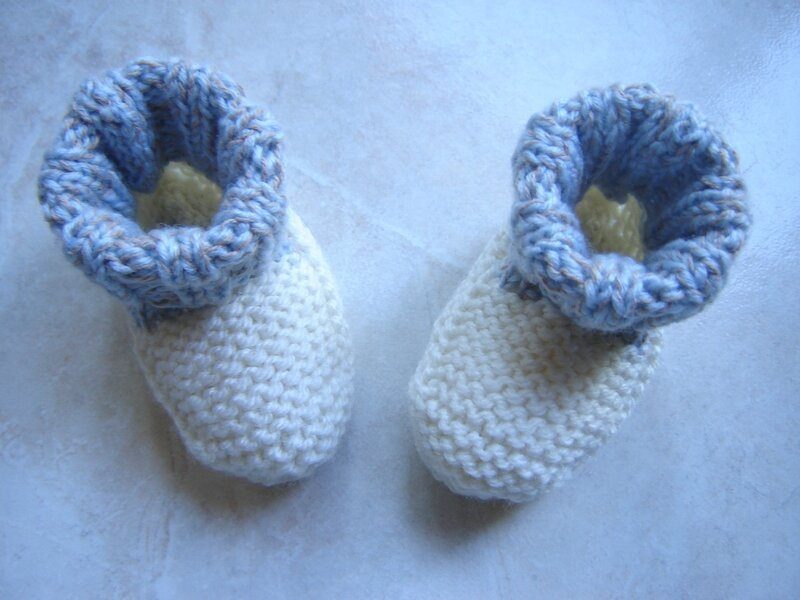 Chaussons bicolores