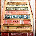 escalier de livres