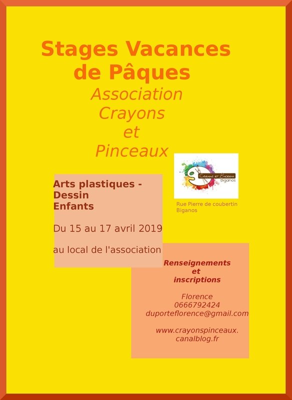 affiches stages paques