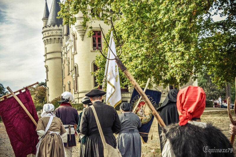 Reconstitution d'un passage historique de la guerre de Vendée – JEP château de la Baronnière (3)