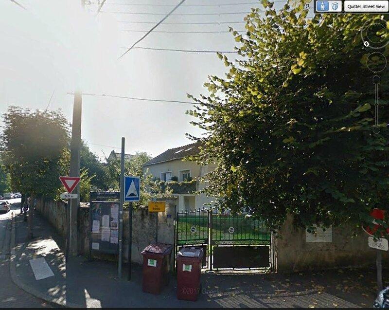 Google earth 1 rue de la Paix à Chelles