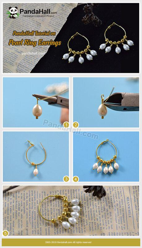 1-PandaHall-Tutorial-on-Pearl-Ring-Earrings