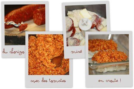 Cabillaud tomates séchées parmesan